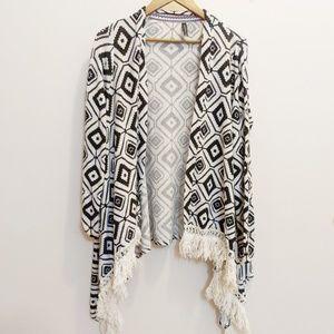 Sweaters - Massini Geometric Southwestern Cardigan Small